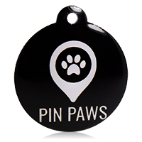 Pin Paws Tag Black