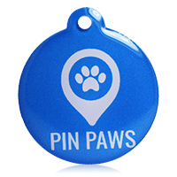 Pin Paws Tag Blue