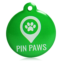 Pin Paws Tag Green