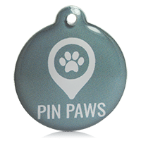 Pin Paws Tag Charcoal