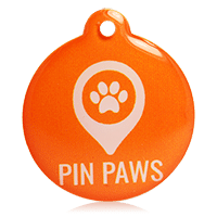 Pin Paws Orange Tag
