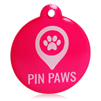 Pin Paws Hot Pink Tag