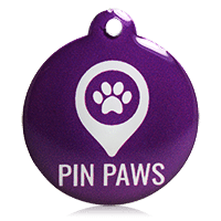Pin Paws Tag Purple