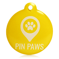 Pin Paws Tag Yellow